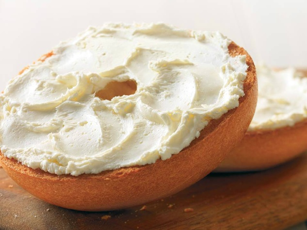 Enjoy Bagel With Cream Cheese At Riverwest Bistro In The
